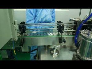 गोल बोतल के लिए 30 मिली से 100 मिली डबल ट्रैक फिलिंग और पेचकस मशीन