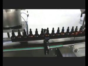 स्वचालित नेल पॉलिश इत्र आँख बूँदें भरने की कैपिंग मशीन