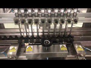 तरल शराबी क्रीम रैखिक भरने की मशीन, शहद जार छोटी बोतल तेल भराव