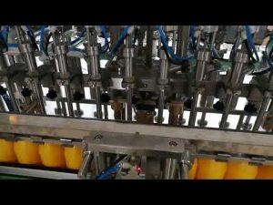 केचप तेलों सॉस कॉस्मेटिक के लिए 12 सिर स्वचालित बोतल भरने की मशीन
